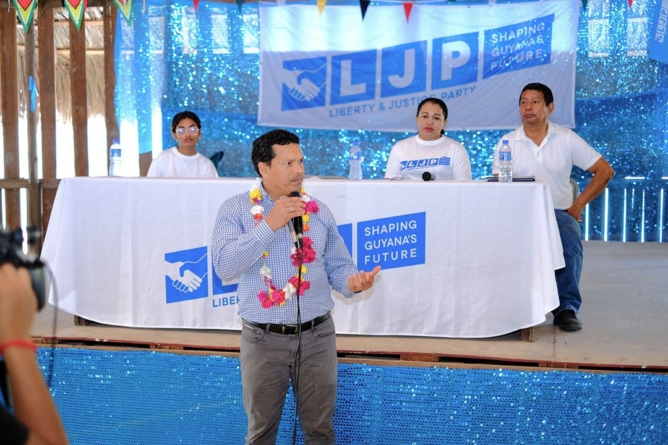 Shuman warns against gov't, PPP/C's muzzling of Indigenous voice -LJP campaign launched