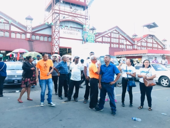List-joining parties in debut at Stabroek Market
