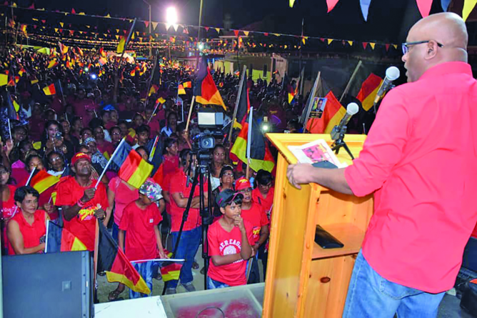 PPP rebuilt Guyana without oil & gas – Ali to mammoth Essequibo Coast rally