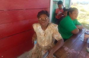 An elderly resident