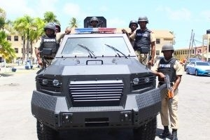 An image of the Armoured vehicle acquired by the Guyana Police Force