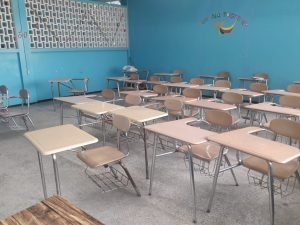 Classrooms remain empty at several schools in the city