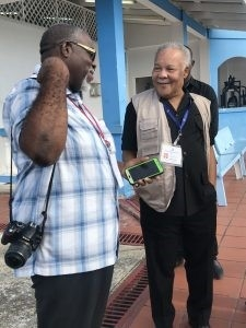Former Prime Minister of Barbados and Chairman of the Commonwealth Observer Group, Owen Arthur
