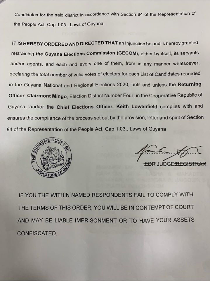 injunctionserved