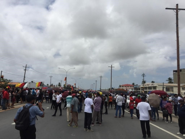 Watch: Protests over 'rigged' elections in Berbice and along East Coast