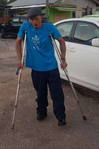 One of many persons with disabilities who went out to vote