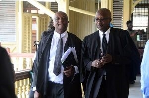 Senior Counsel Neil Boston and attorney-at-law Robin Hunte