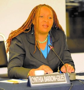 Senior Lecturer in Department of Government of UWI, Cynthia Barrow-Giles