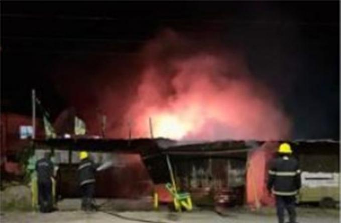 Arsonists destroy PNC activist-owned butcher shop at Bush Lot Village, WCB