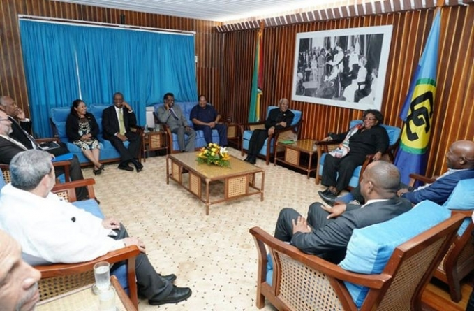 CARICOM delegation holds talks with political leaders
