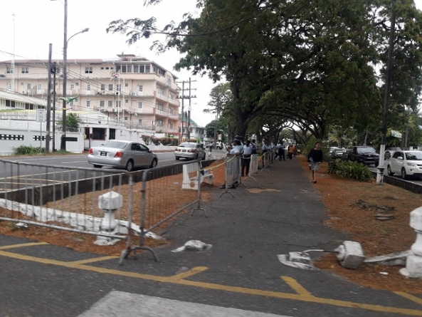 Police cordon off embassies in Guyana