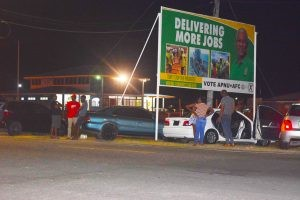 PPP/C, Coalition supporters guard ballot boxes overnight