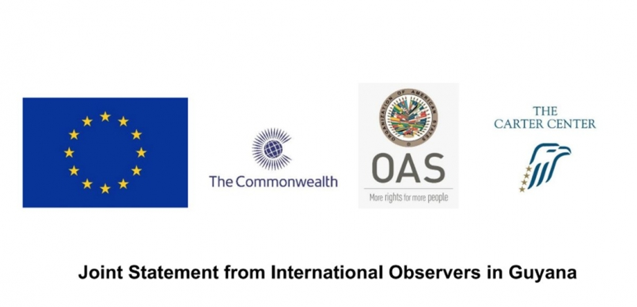 Int'l observer missions call on GECOM to complete tabulation of Region Four results