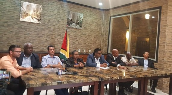 Joint political parties unite in call for int'l sanctions against APNU/AFC