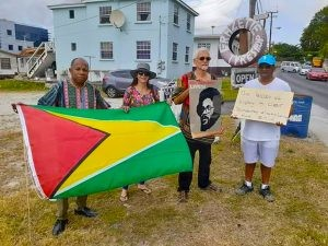 Concerned citizens picket outside Guyana Consulate in B'dos