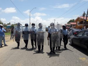 Seven pro-democracy protestors shot by riot Police