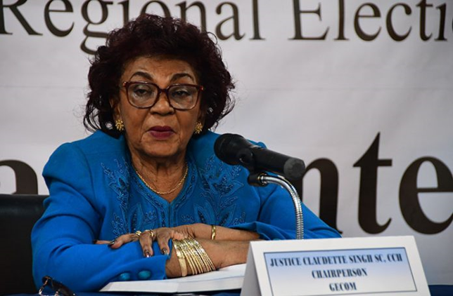 GECOM Chair cites legal restraint in reply to Jagdeo request for restart of Region Four verification