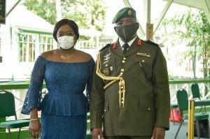 Brigadier Godfrey Bess and his wife Shandelle Bess