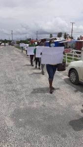 Coalition supporters protesting in Region Two