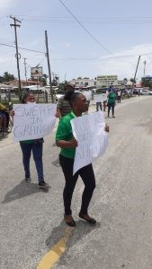Protestors echoing calls for President Granger to be sworn in
