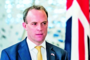 United Kingdom Foreign Secretary, Dominic Raab