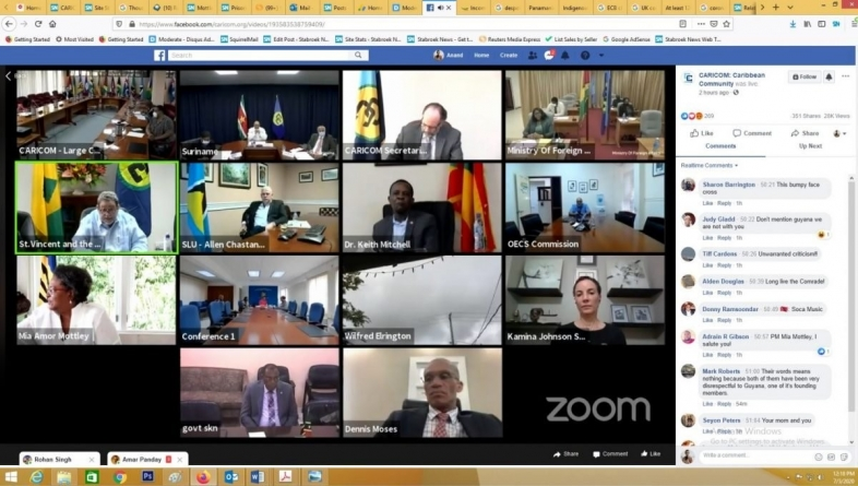 Gonsalves defends Mottley over Guyana elections intervention