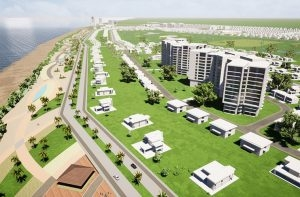 An artist's impression of the condos that will be built at Maraiko Bay Golf & Country Club in Mahaica, East Coast Demerara