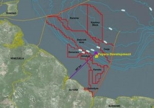 Map showing the location of the proposed Payara project in the Stabroek Block