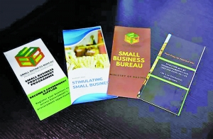Brochures created to educate the small business owners on the services provided