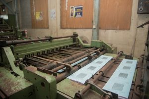 Exercise books being printed at the Guyana National Printers Limited