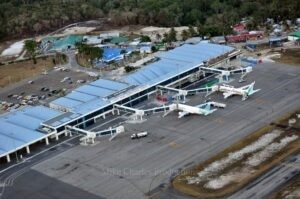 The renovated terminal building that Guyana got as part of the US$150M-plus project at CJIA. It was supposed to be new