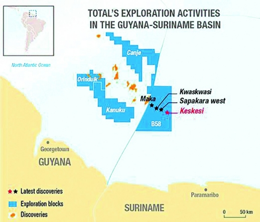Total, Apache strike 4th oil discovery offshore Suriname