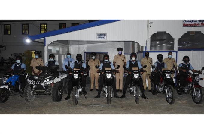 Enhanced police motorcycle patrols in Region Three