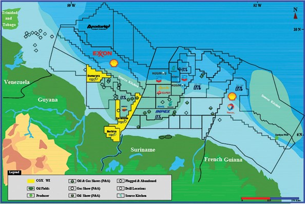 CGX sitting on potential 4.9M barrels of oil offshore Guyana – report
