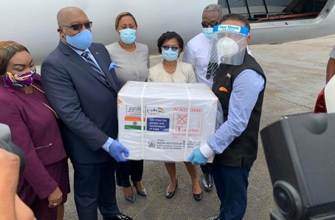 India delivers COVID-19 vaccine to OECS, Suriname