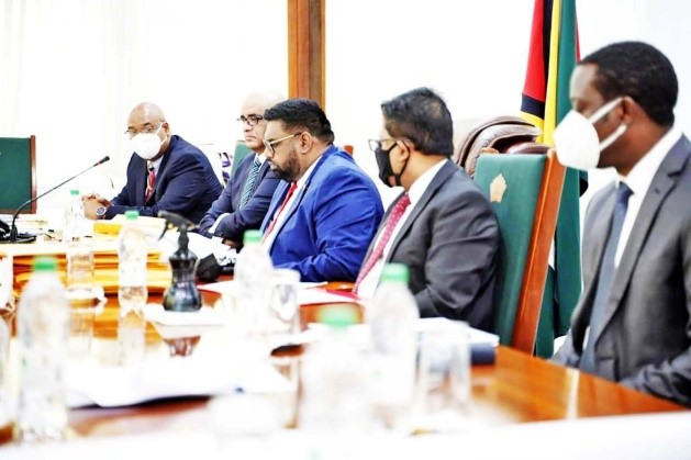 President Ali and team hold discussions with China's Xi Jinping