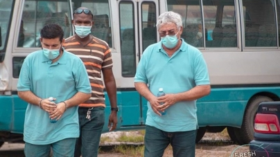 Foreign nationals remanded for 'cocaine on plane