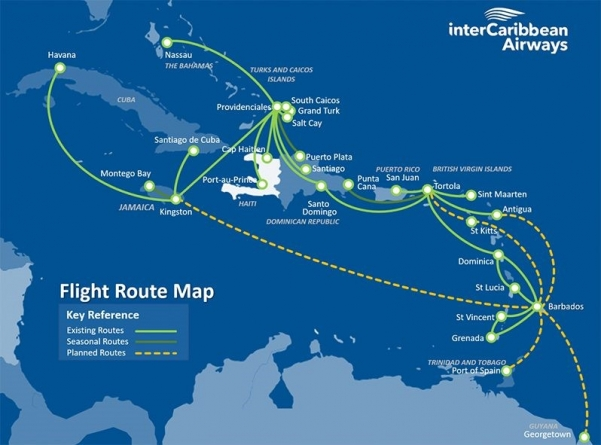 InterCaribbean Airways, Fly Allways destined for Guyana