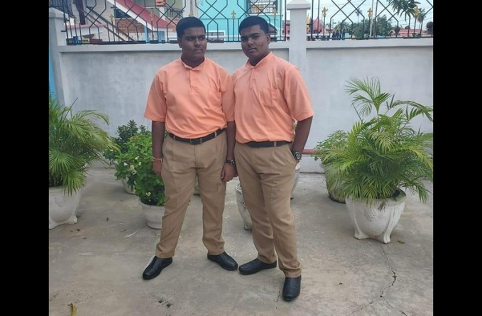 The twins who topped at CSEC
