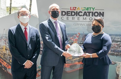 First Lady is 'Godmother' of Liza Unity FPSO