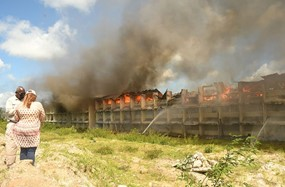 Mysterious fire guts section of city school