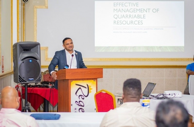 Minister Bharrat calls for increased aggregate production