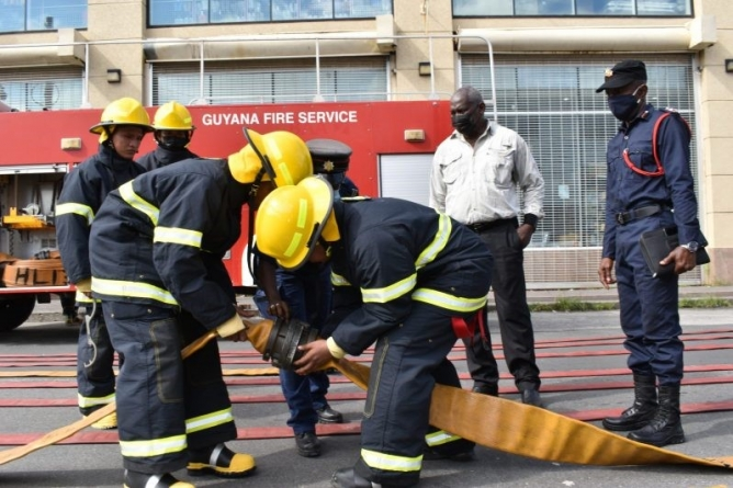 Exercise held to boost firefighting efforts, test new equipment