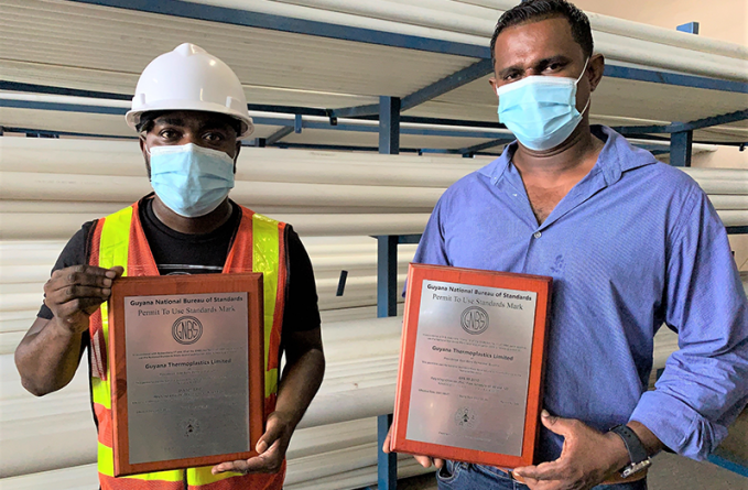 Guyana Thermo-Plastics Limited cements name through certification