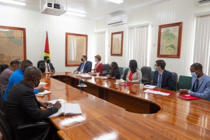 High-level World Bank team in Guyana