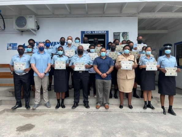 Region Three police officers benefit from four-day training programme