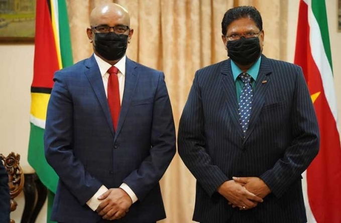 Guyana, Suriname to advance talks on joint 'environment' strategy