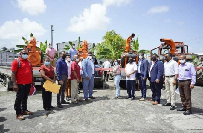 Region Two rice farmers get boom sprayers