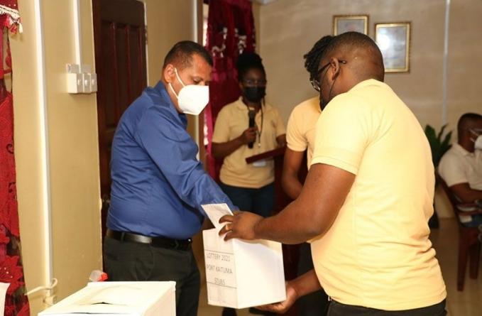 38 persons receive mining blocks via lottery in Port Kaituma