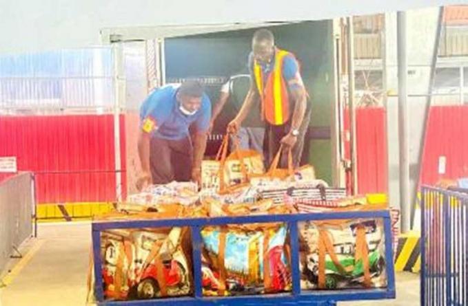 50 households in Bashvale Village receive relief supplies